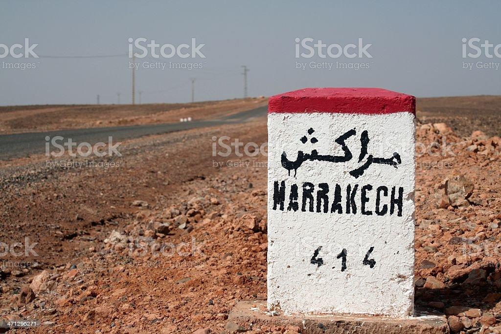 Marrakesh 414 Km royalty-free stock photo