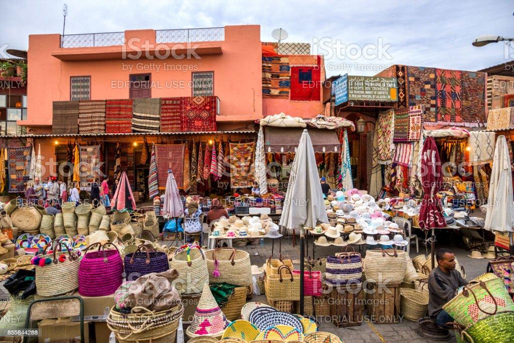Marrakesh berber market stock photo