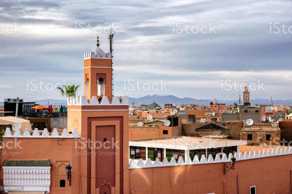 Marrakesh historic medina Morocco stock photo