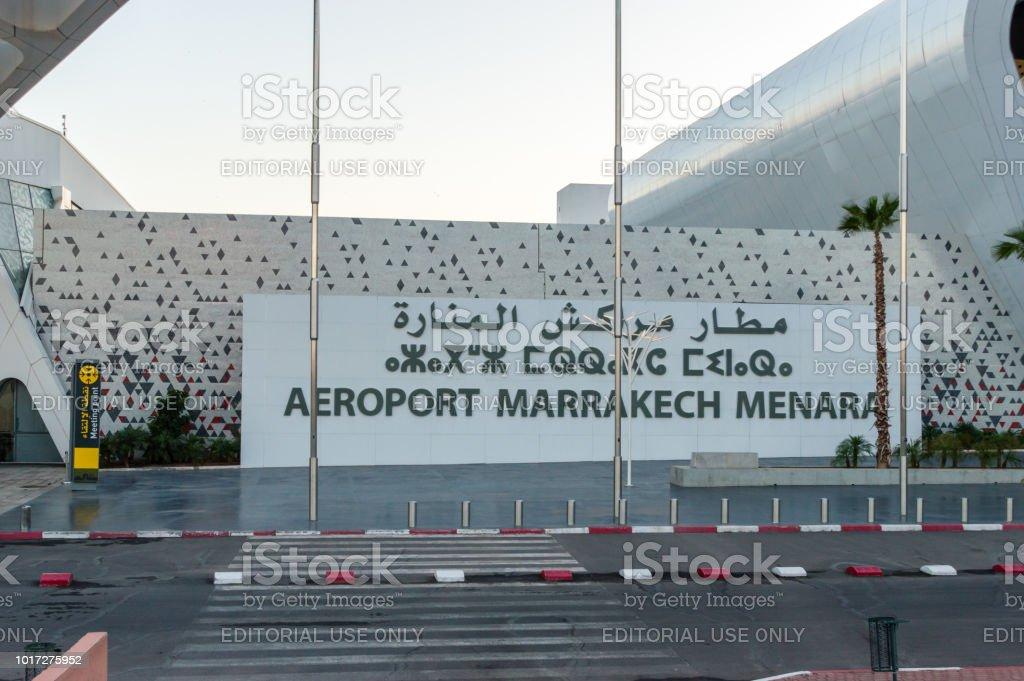 Marrakesh Menara Airport (Aeroport Marrakech Menara). stock photo