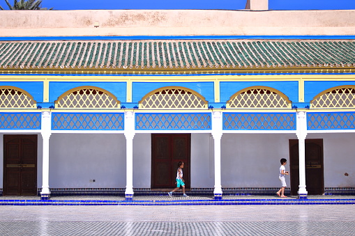 Marrakesh, Morocco - Feb 28th, 2017: Palais de la Bahia
