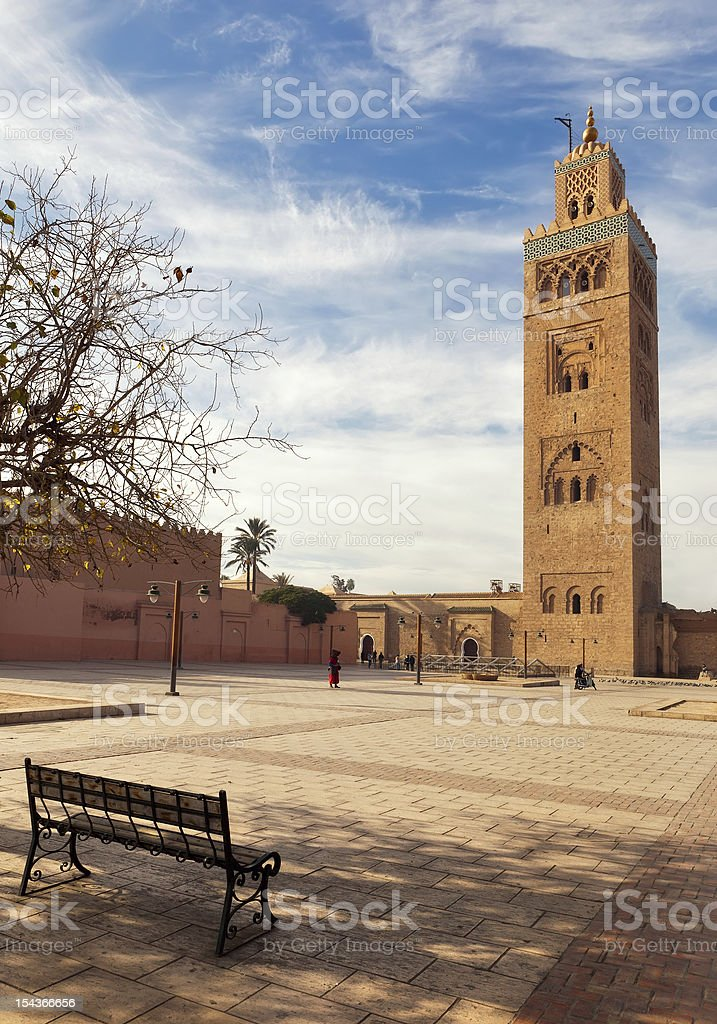 Marrakesh Moulay El Yazid Mosque royalty-free stock photo