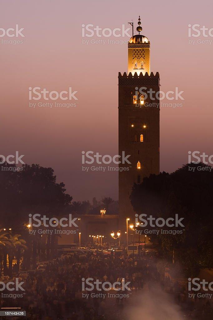 Marrakesh night stock photo