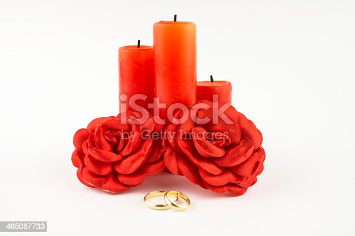 marriage ceremony, isolated on a vhite background