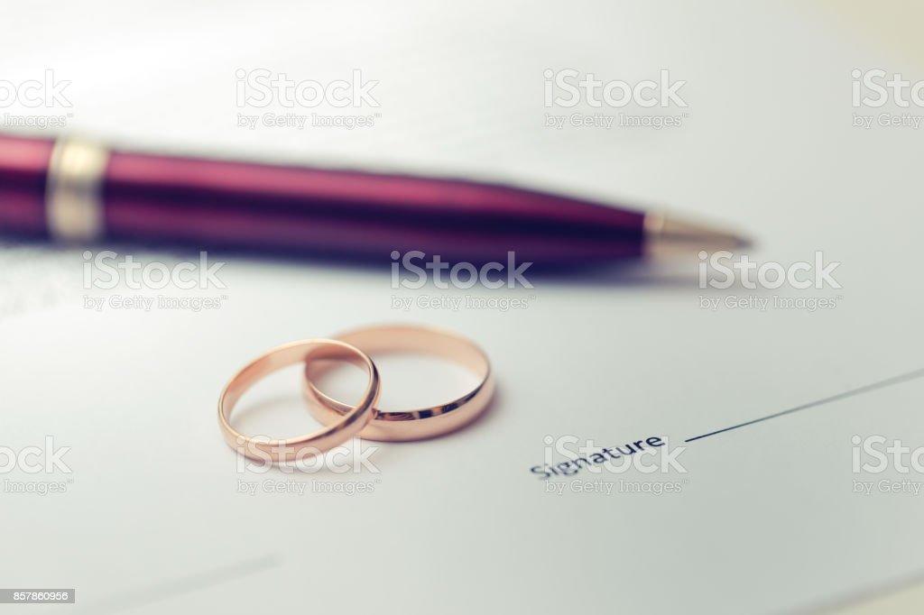 Ehe-Vertrag – Foto