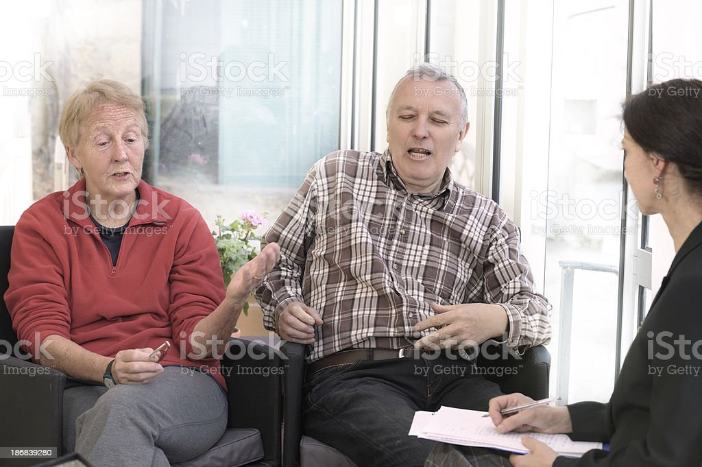 Marriage counselling for quarrelling couple royalty-free stock photo