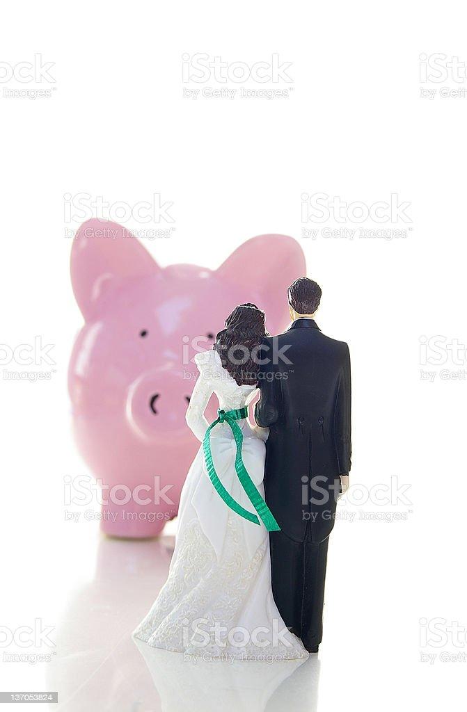 marriage finances royalty-free stock photo