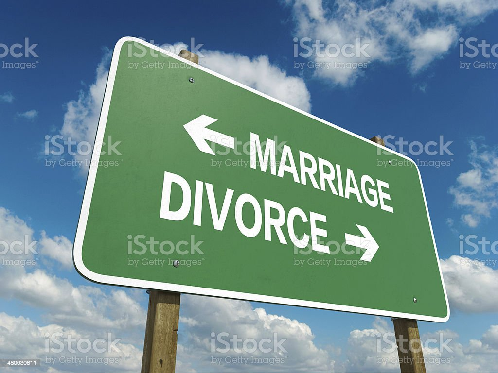 marriage or divorce stock photo