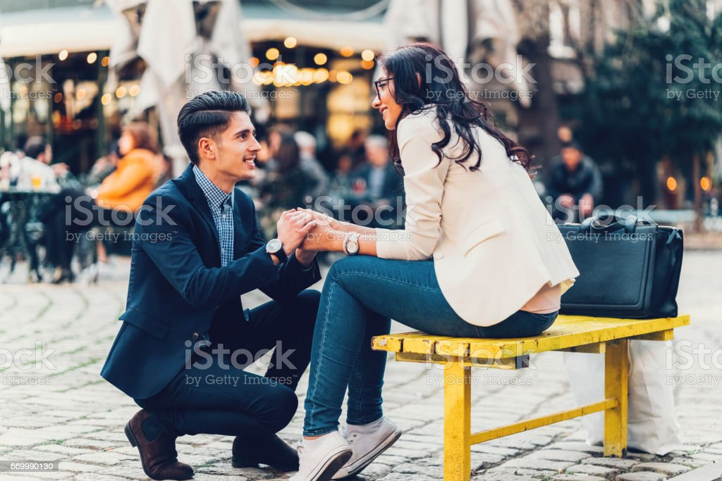 結婚のプロポーズ ストックフォト