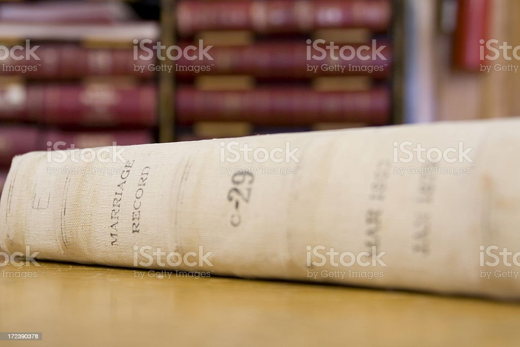 Marriage Record Book royalty-free stock photo