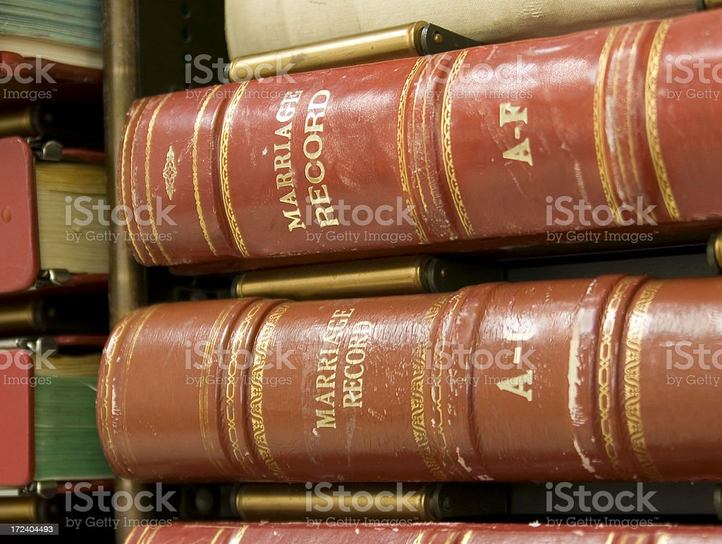 Marriage Record Books royalty-free stock photo