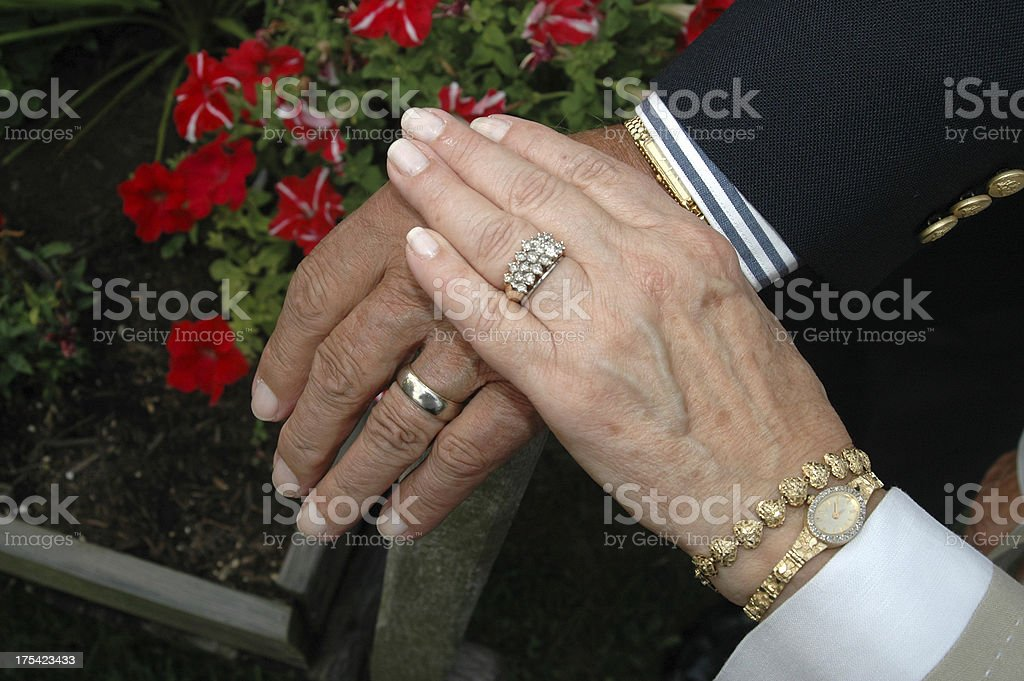 Married 50 Years royalty-free stock photo