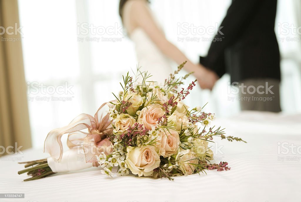 Married Couple Holding Hands royalty-free stock photo
