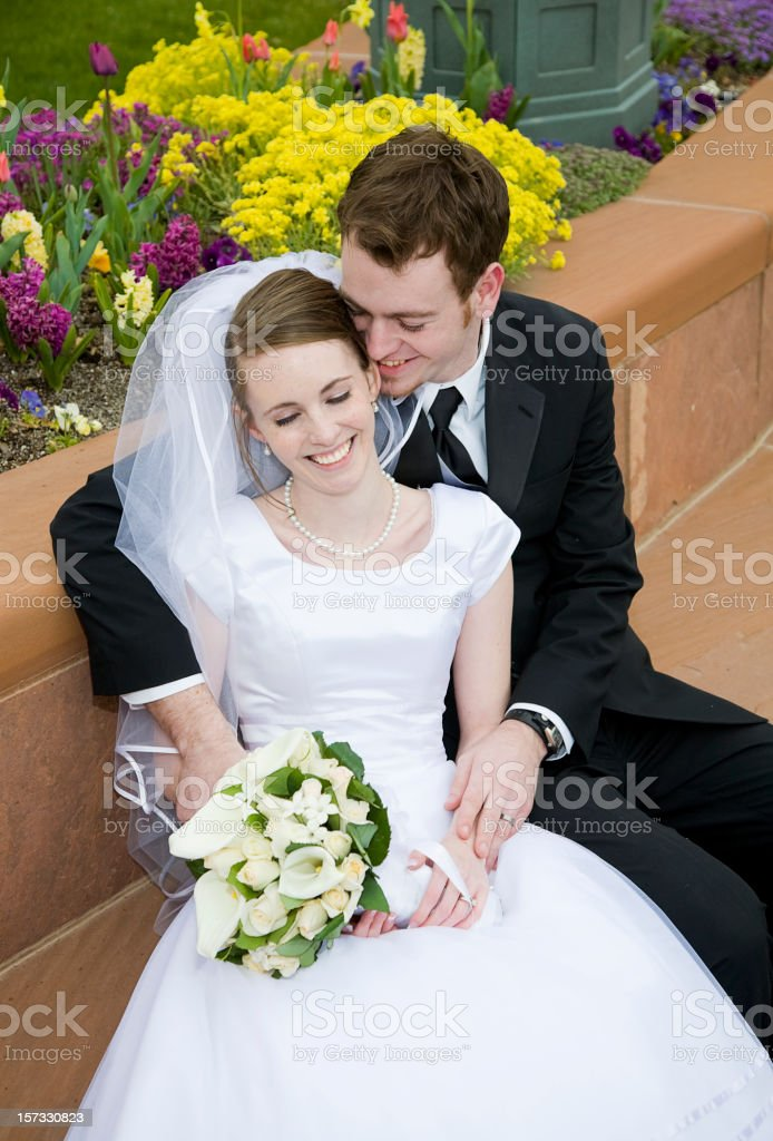 Married Couple on Bench royalty-free stock photo
