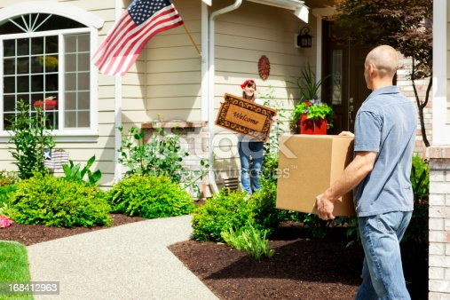 istock Married Couple on Moving Day 168412963