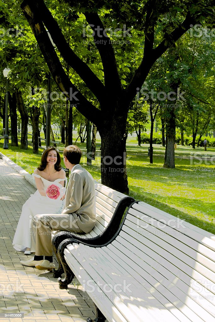 Married couple on the branch stock photo
