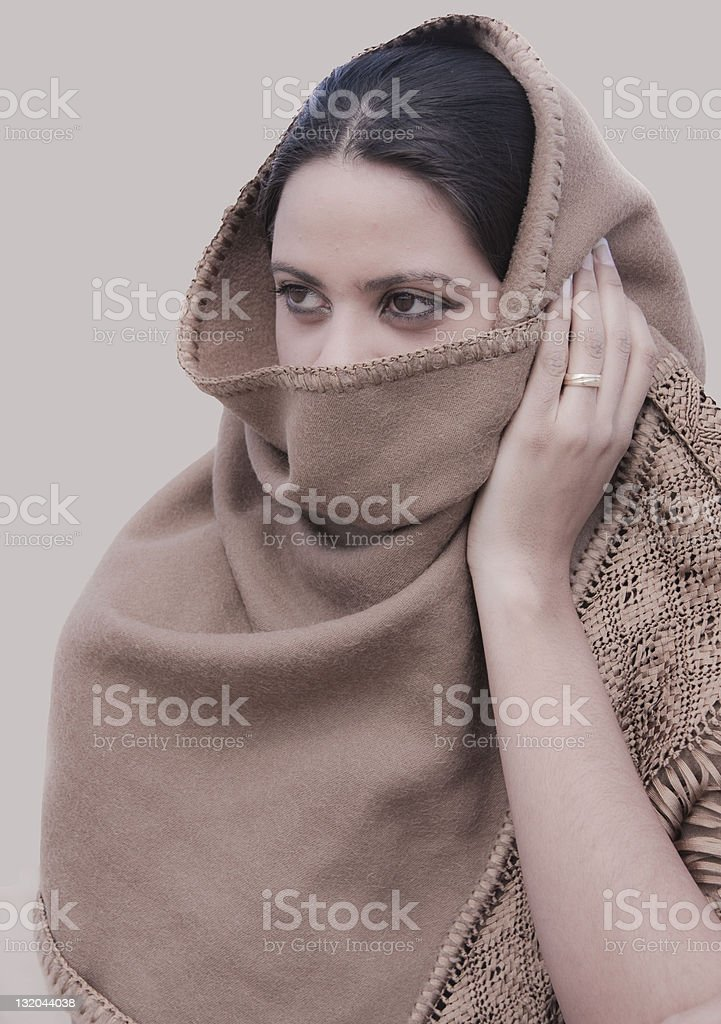 Married Girl with Mysterious Look stock photo