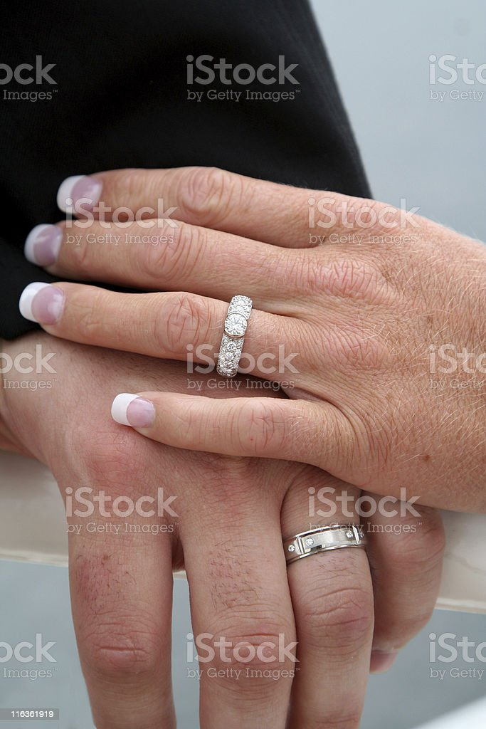 Married Hands royalty-free stock photo