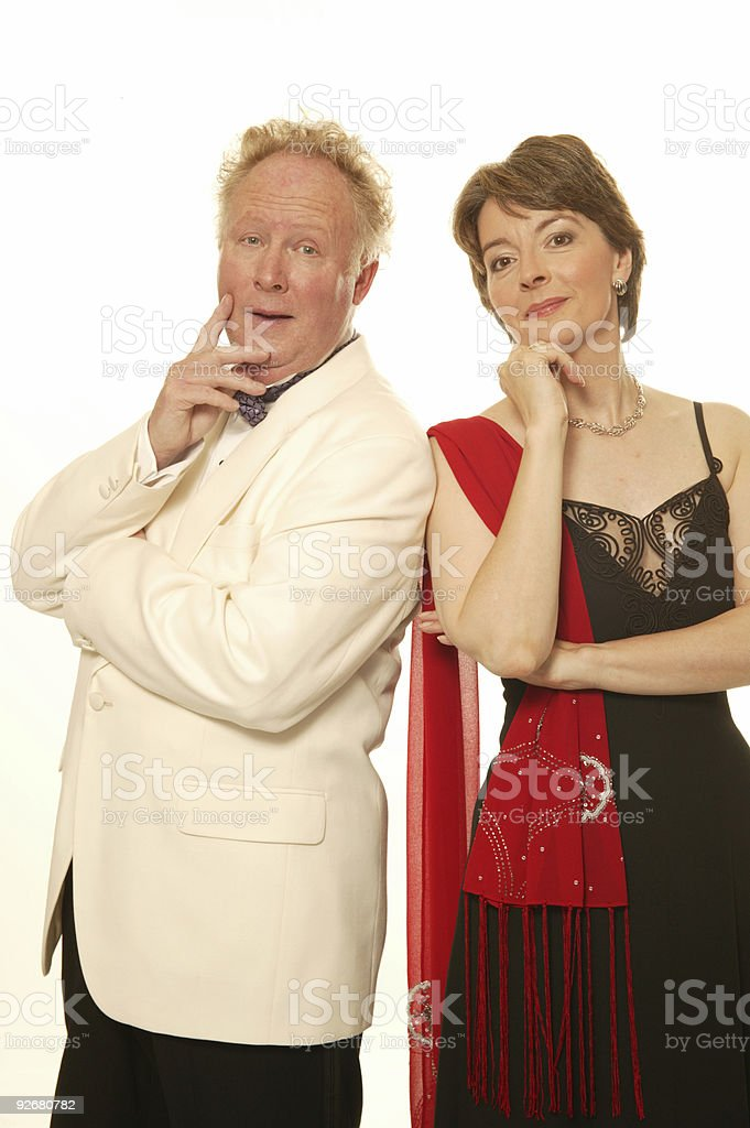 married man & woman ready for a ball royalty-free stock photo