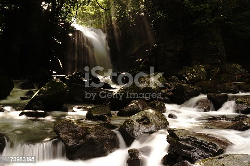 1131408581istockphoto Married waterfall where two river waterfalls join 1173983195