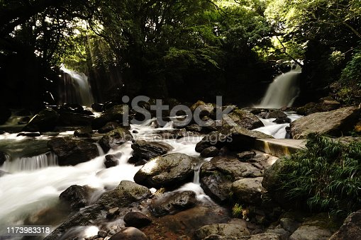 1131408581istockphoto Married waterfall where two river waterfalls join 1173983318