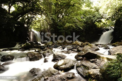 1131408581istockphoto Married waterfall where two river waterfalls join 1173983391