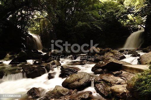 1131408581istockphoto Married waterfall where two river waterfalls join 1173983558