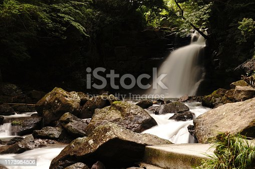1131408581istockphoto Married waterfall where two river waterfalls join 1173984806