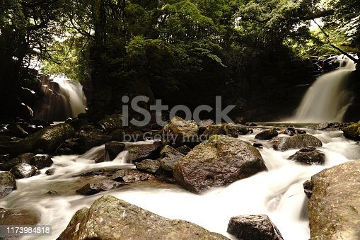 1131408581istockphoto Married waterfall where two river waterfalls join 1173984818