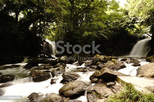 1131408581istockphoto Married waterfall where two river waterfalls join 1173985030