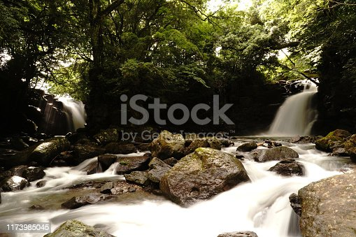 1131408581istockphoto Married waterfall where two river waterfalls join 1173985045