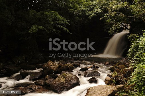 1131408581istockphoto Married waterfall where two river waterfalls join 1173985331