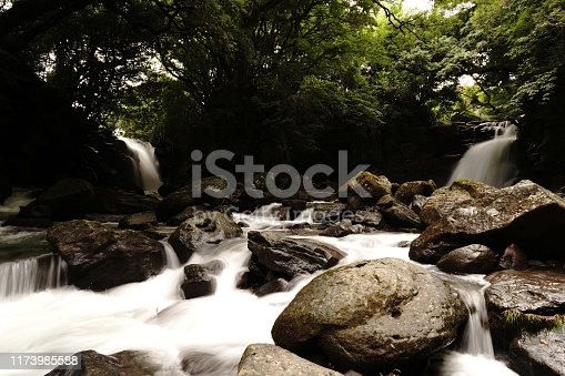 1131408581istockphoto Married waterfall where two river waterfalls join 1173985588