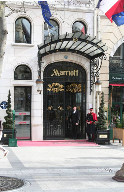 Marriott Hotel in Paris stock photo