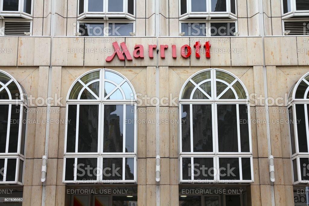 Marriott Hotel stock photo