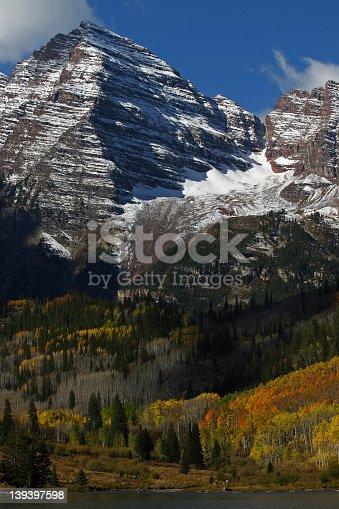 Maroon Bells in fall, Aspen, CO