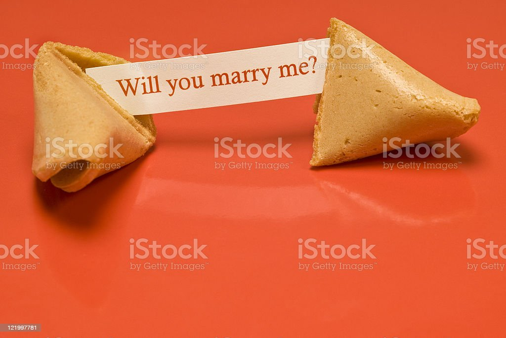 Marry Me Fortune Cookie royalty-free stock photo