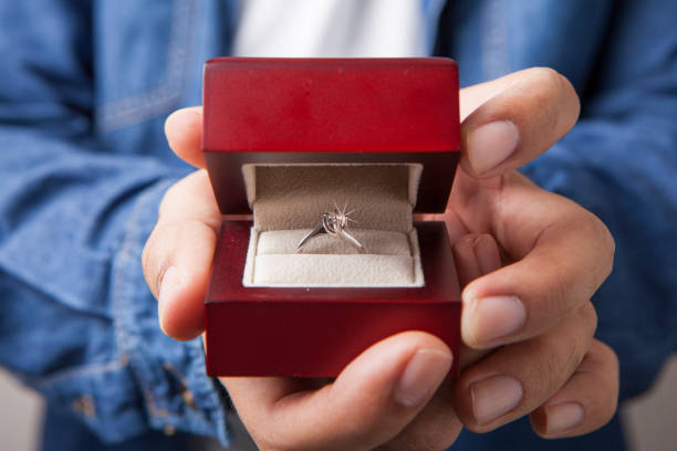 marry me - diamond ring hand stock pictures, royalty-free photos & images