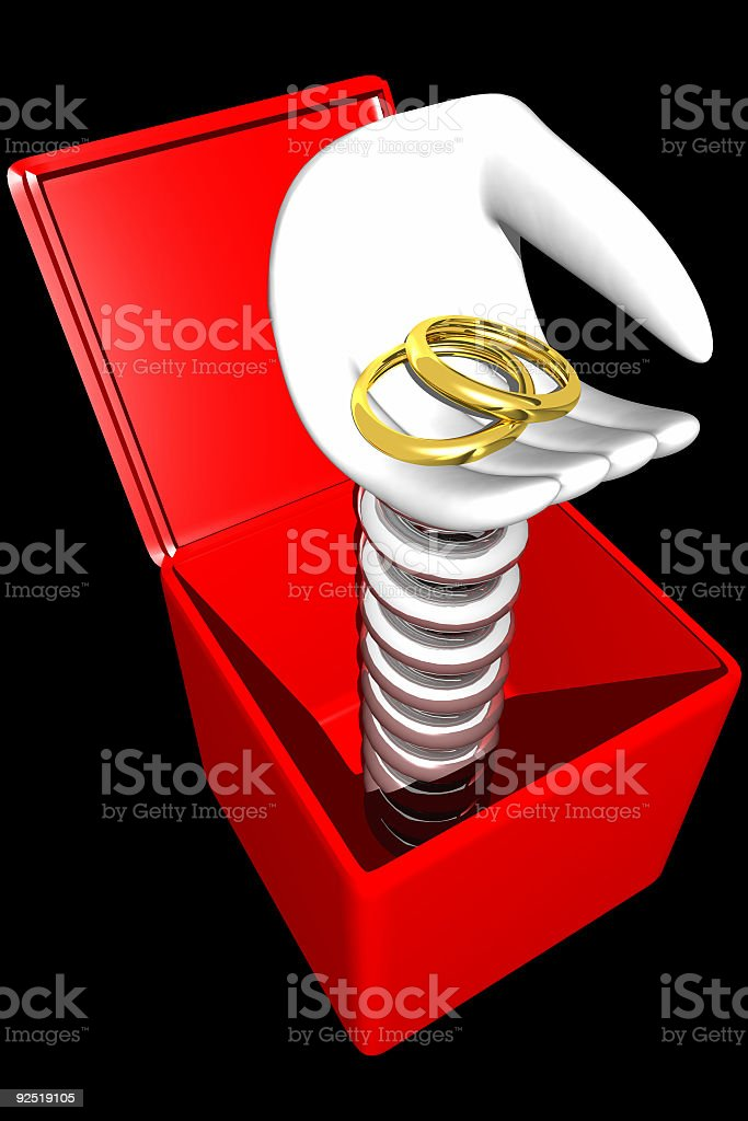 Marry me surprise! (3D) stock photo