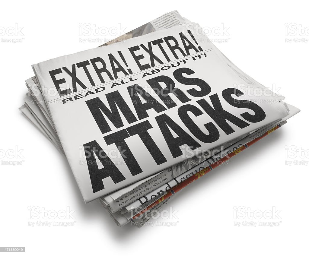 Mars Attacks royalty-free stock photo