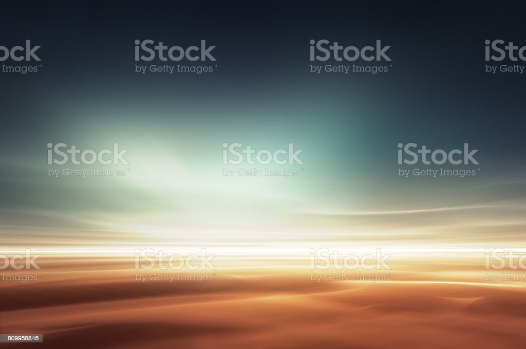 Mars desert like fantasy landscape stock photo