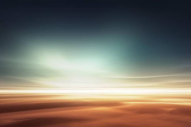 mars wüstenhaften phantasielandschaft - ozean kunst stock-fotos und bilder