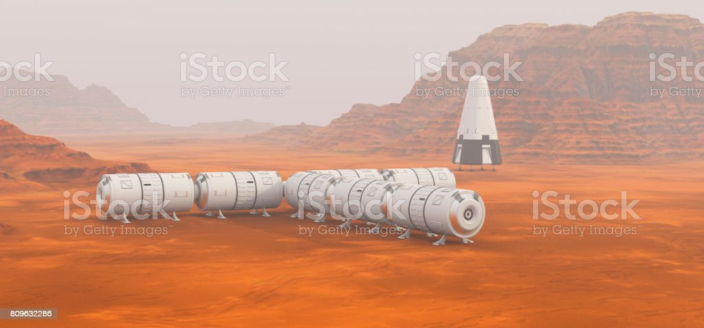 Mars exploration mission stock photo