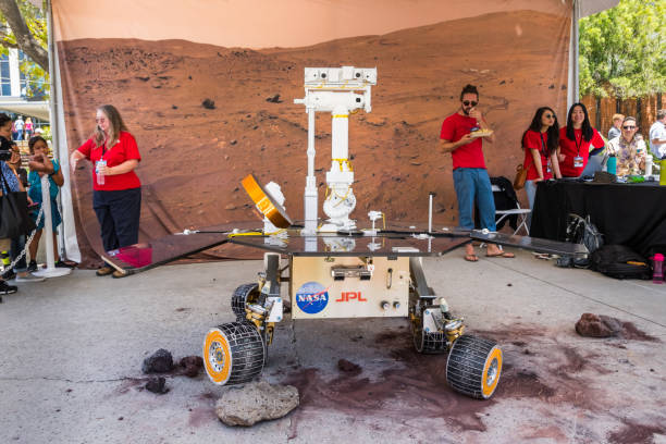Mars Exploration Rover close up June 10, 2018 La Canada Flintridge / CA / USA -  Mars Exploration Rover demonstrating the way of going over obstacles,
