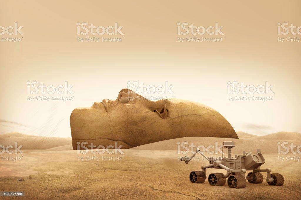 Mars Explorer und Landschaft Gesicht – Foto