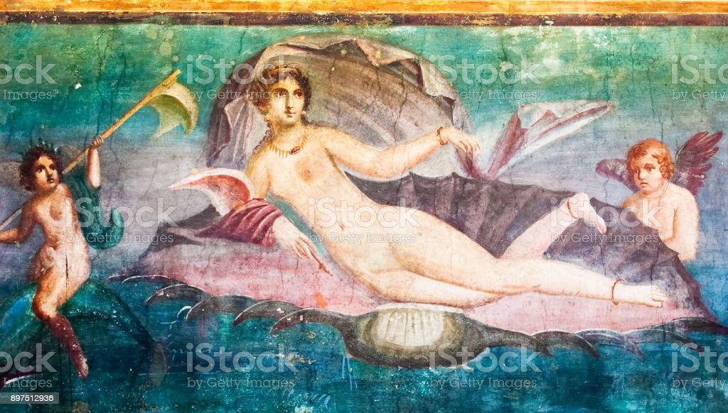 Mars fresco in Pompeii House Italy - foto stock