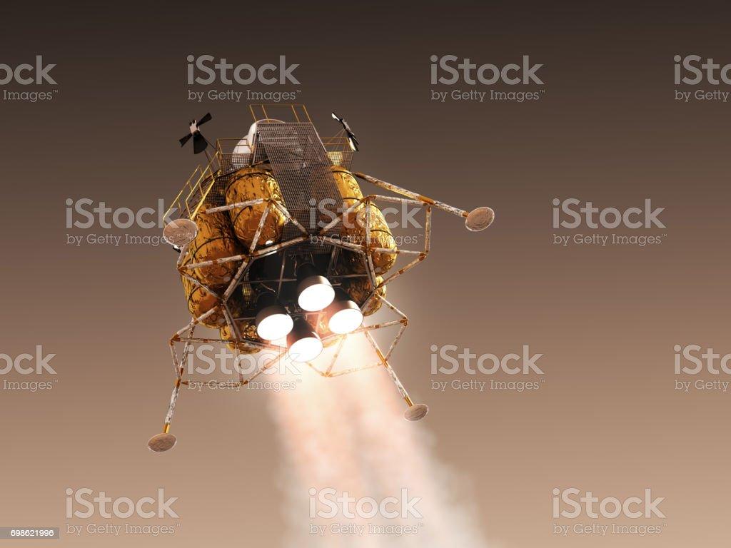Martien dans l'atmosphère de la planète rouge - Photo