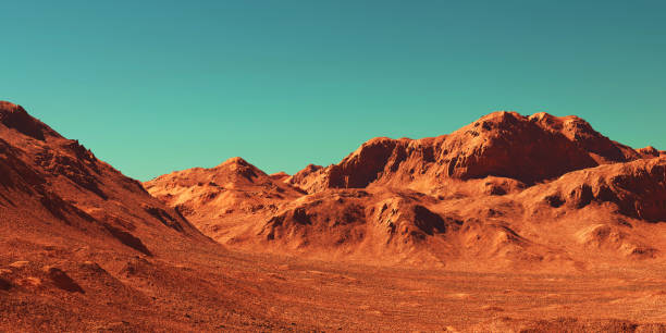 화성 풍경, 3d 렌더링 - 황야 뉴스 사진 이미지