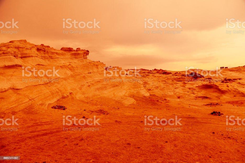 Mars Landscape foto de stock royalty-free