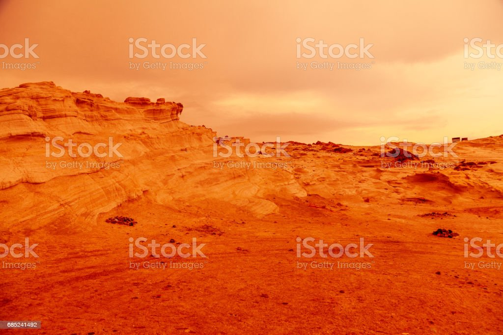 Mars Landscape stock photo